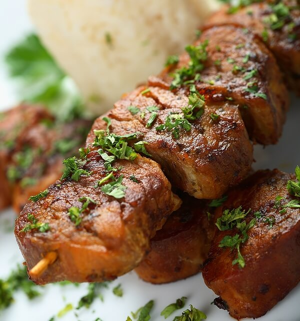 Ginger & Soy Pork Kebabs Recipe