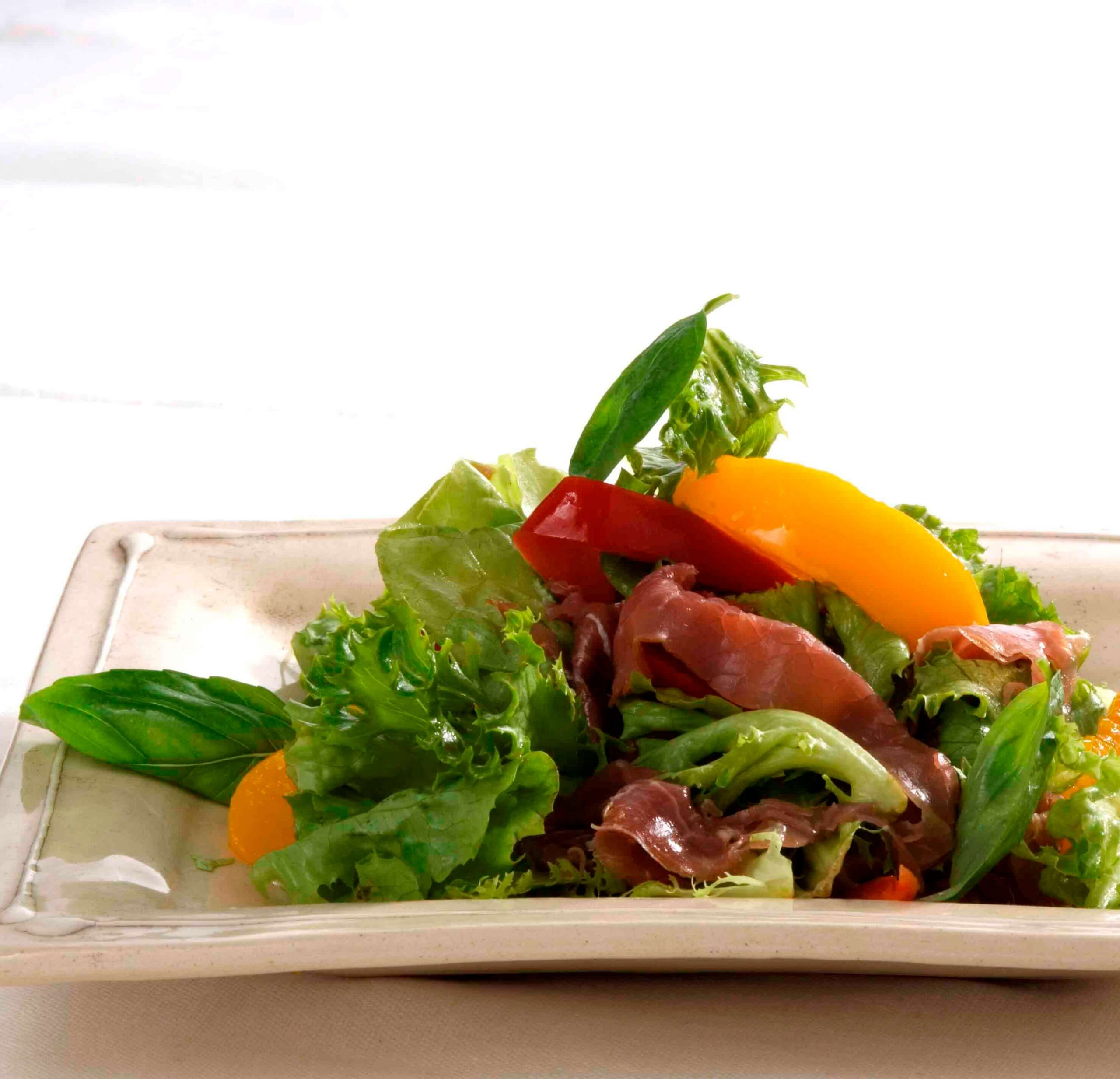 Smoked Beef & Peach Salad